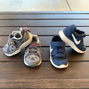 Little boys sneakers Stride rite and Nike.